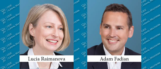 Lucia Raimanova and Adam Fadian in Allen & Overy's Global Partnership Round