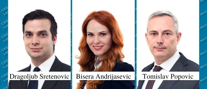 Dragoljub Sretenovic, Bisera Andrijasevic, and Tomislav Popovic Promoted at BDK Advokati