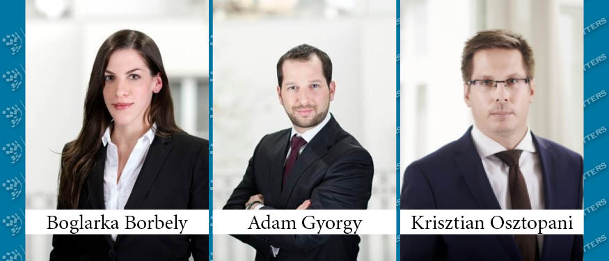 Boglarka Borbely, Adam Gyorgy, Krisztian Osztopani Promoted to Partner at SBGK