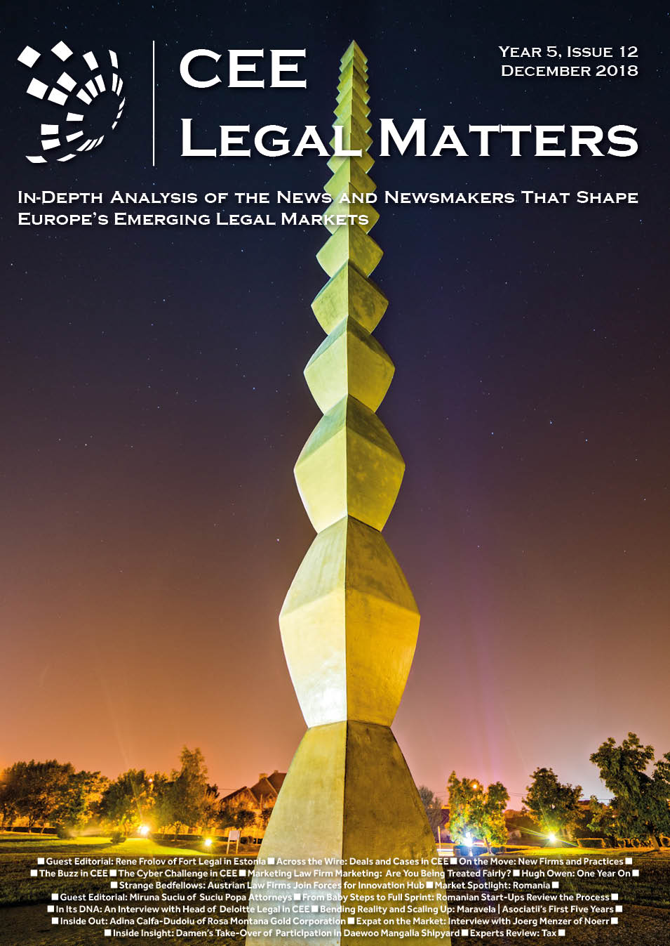 CEE Legal Matters: Issue 5.12.