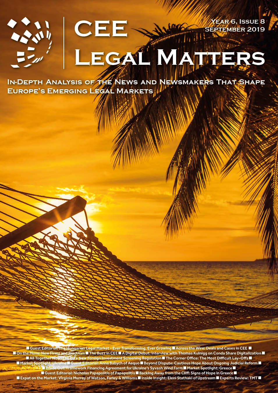 CEE Legal Matters: Issue 6.8.